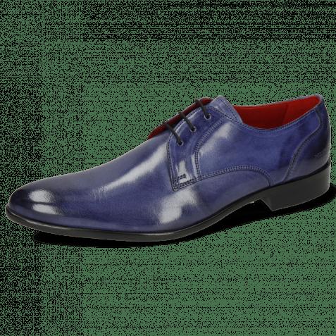 Derby Schuhe Toni 1 Forum Light Cobalt Lining Red