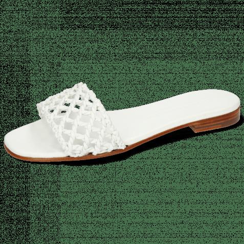Pantoletten Elodie 49 Mignon Sheep White