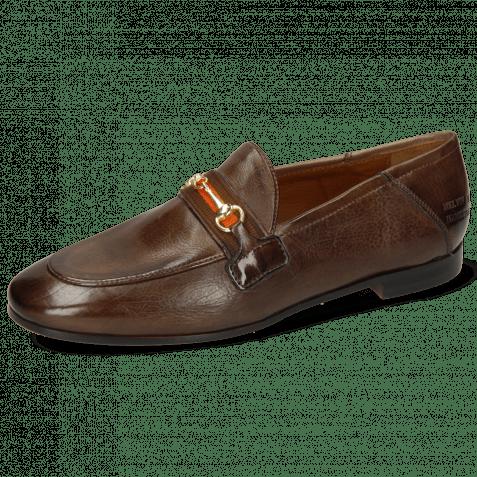 Loafers Scarlett 45 Monza Chestnut Binding Mogano