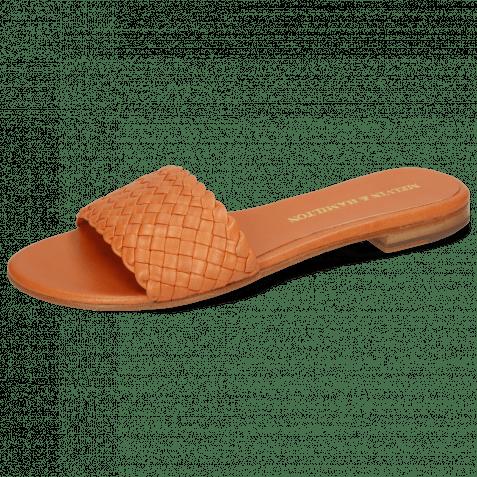 Pantoletten Hanna 26 Woven Light Orange