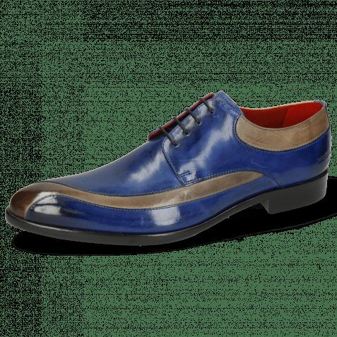 Derby Schuhe Toni 36 Digital Electric Blue