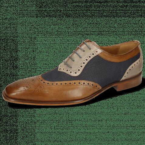 Oxford Schuhe Clark 16 Venice Nougat Deep Navy Digital Nubuck Perfo Deep Navy