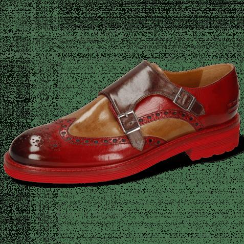 Monk Schuhe Trevor 2 Rio Red Tortora