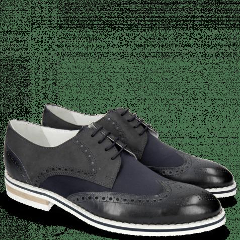Derby Schuhe Kane 5 Lycra Navy Nubuck Deep Navy