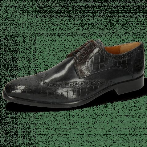 Derby Schuhe Lewis 3 Crock London Fog Deep Steel