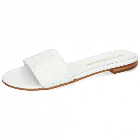Pantoletten Hanna 26 Woven White LS
