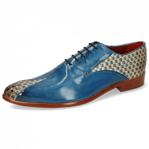 Oxford Schuhe Toni 31 Woven Pop Blue Nude Mid Blue