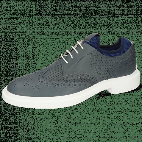 Derby Schuhe Ron 2 Flex Perfo Navy