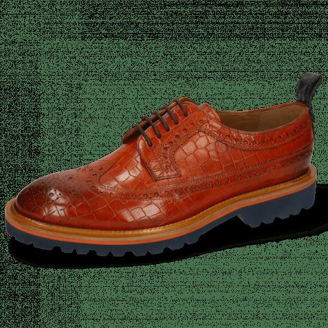 Derby Schuhe Matthew 23 Crock Winter Orange