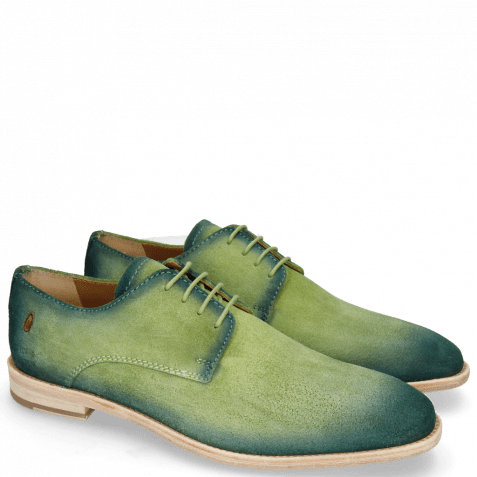 Derby Schuhe Ryan 3 Suede Pattini New Grass Shade Pine