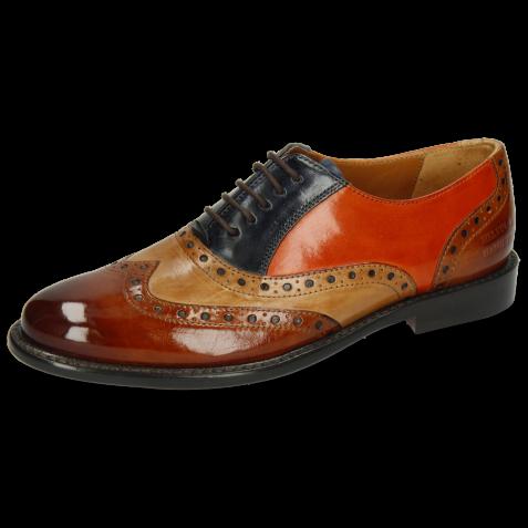 Oxford Schuhe Selina 24 Cognac Sand Marine Winter Orange
