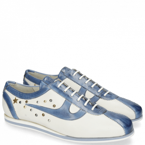 Sneakers Pearl 1 Nappa White Vegas Wind Star Rivets