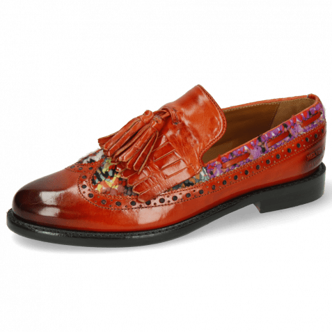 Loafers Selina 3 Winter Orange Textile Quilesa Multi