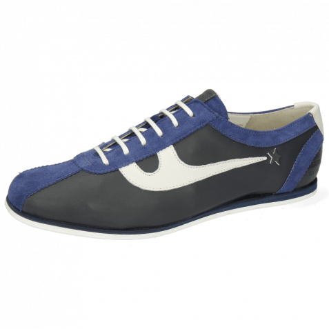 Sneakers Pearl 1 Goat Suede Navy Nappa Navy White