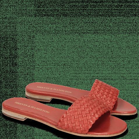 Pantoletten Hanna 26 Woven Red