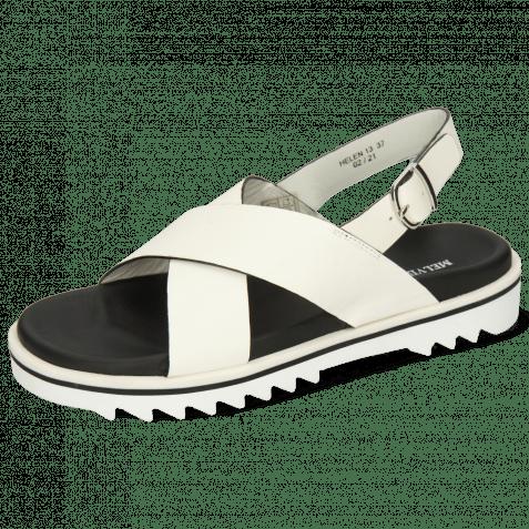 Sandalen Helen 13 Flex White Edge Black Strap