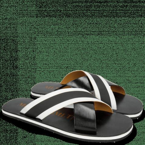 Pantoletten Sam 5 Black Elastic Rifra Black White