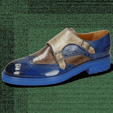 Monk Schuhe Trevor 2  Electric Blue Stone