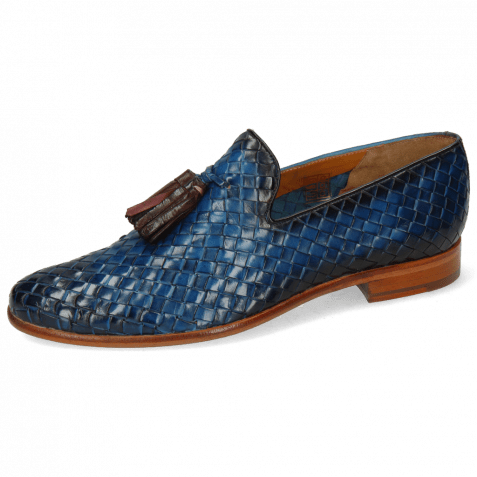 Loafers Brad 10  Woven Bluette Shade Burgundy