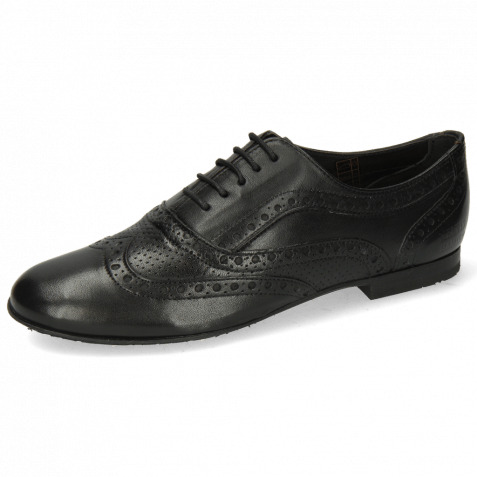 Oxford Schuhe Sonia 1 Nappa Perfo Black RS