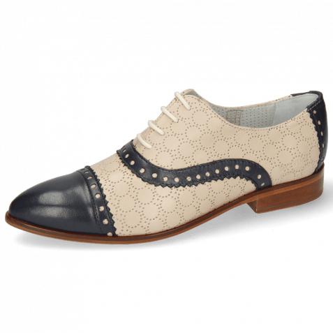 Derby Schuhe Jessy 54 Nappa Glove Deep Navy Cream