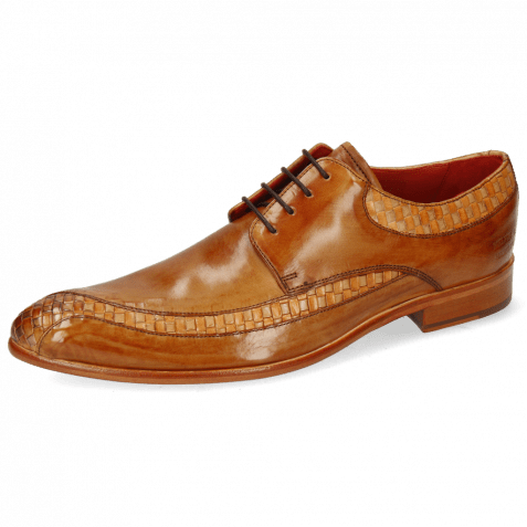 Derby Schuhe Toni 36 Woven Powder Arancio Tan