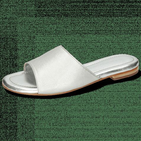 Pantoletten Hanna 5 Plain Silver