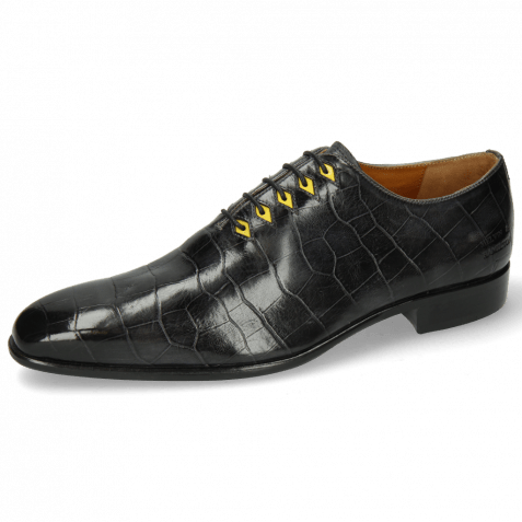 Oxford Schuhe Lance 28 Big Croco London Fog Eyelet Fluo Yellow