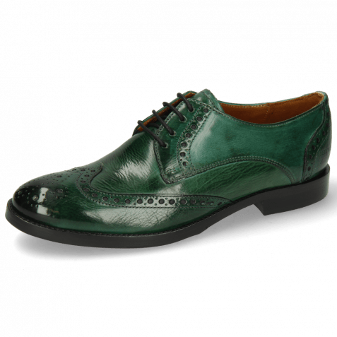 Derby Schuhe Amelie 3 Pine Lining Nappa