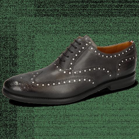 Oxford Schuhe Scott 12 Dice London Fog Underlay Patent White
