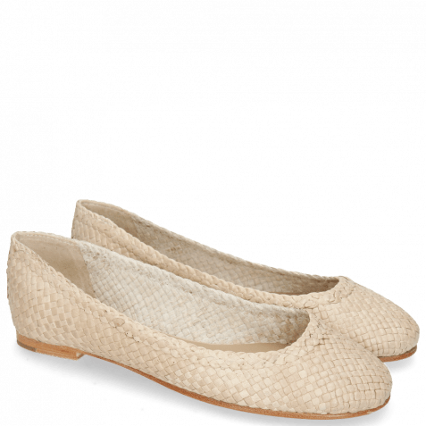 Ballerinas Kate 5 Woven Off White Natural