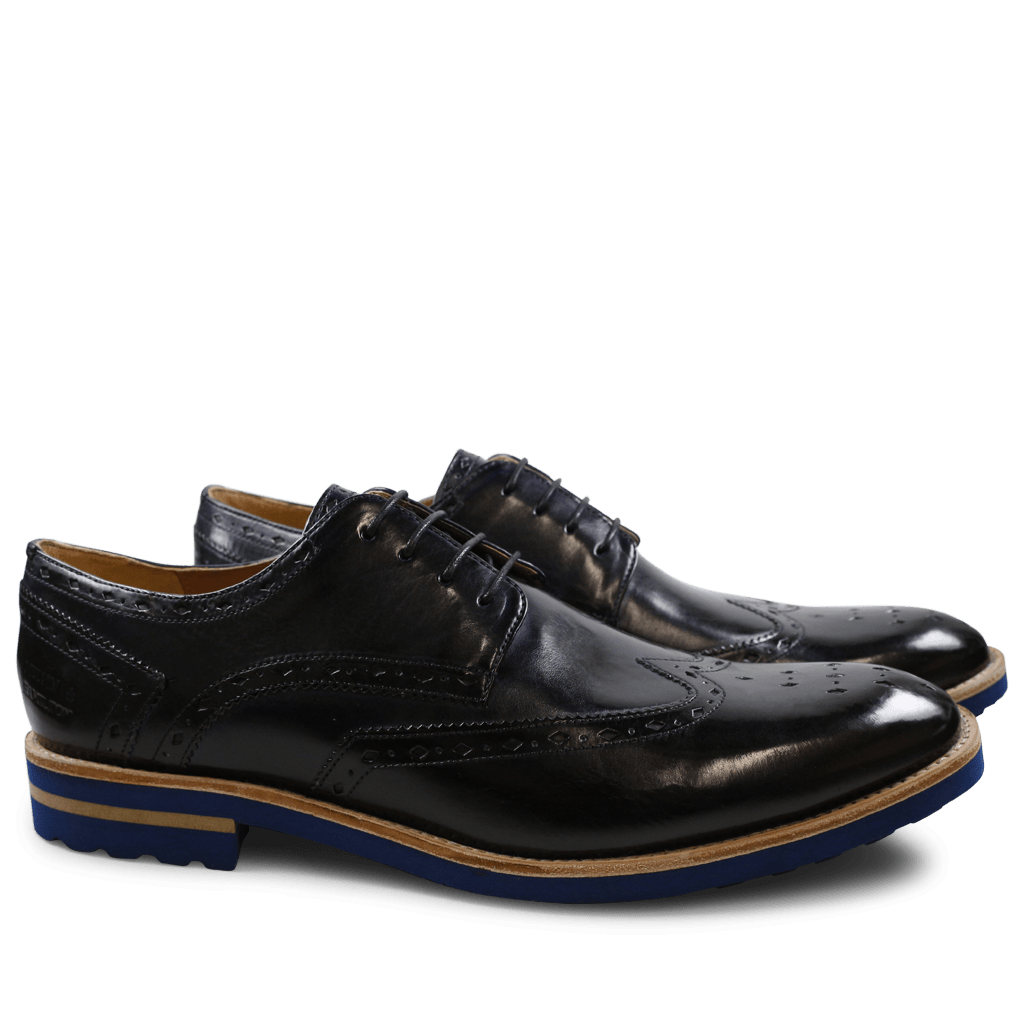 Derby Schuhe Eddy 5 Crust Navy Aspen Blue
