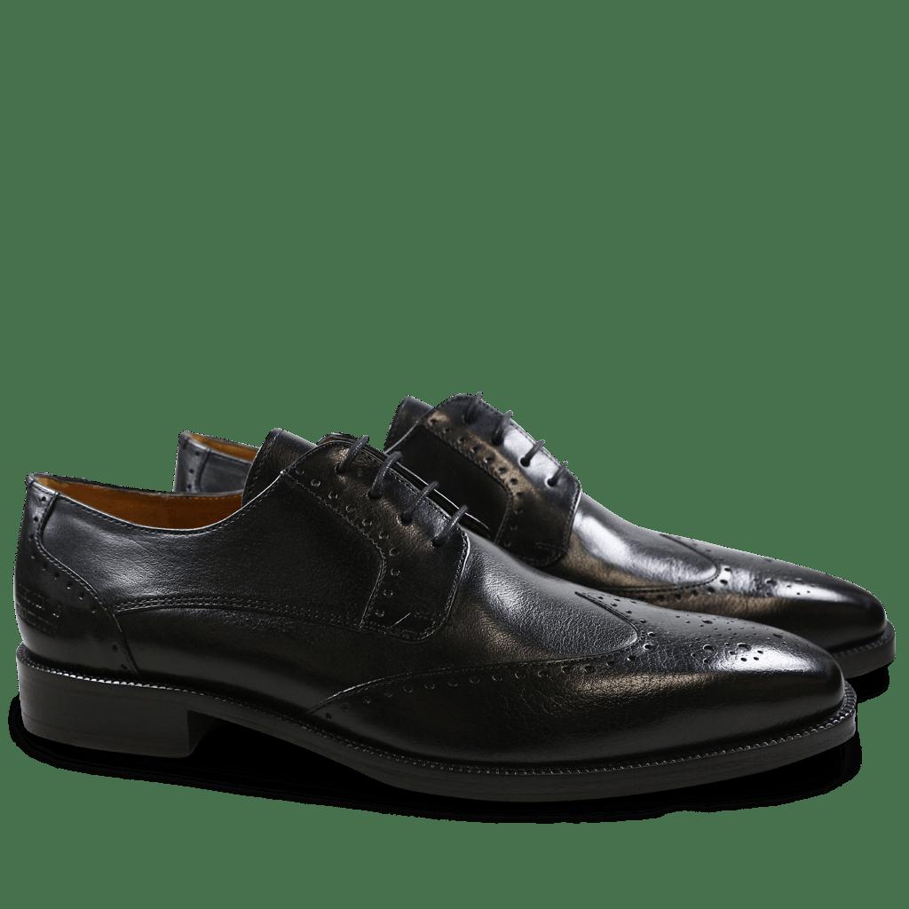Derby Schuhe Jeff 14 Black HRS
