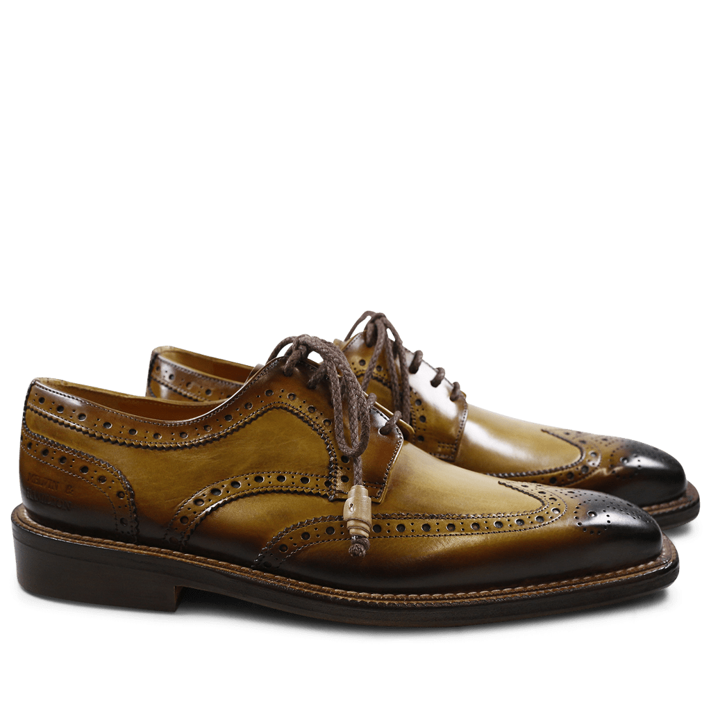 Derby Schuhe Marvin 1 Cedro Toe Shade Dark Brown LS Gold