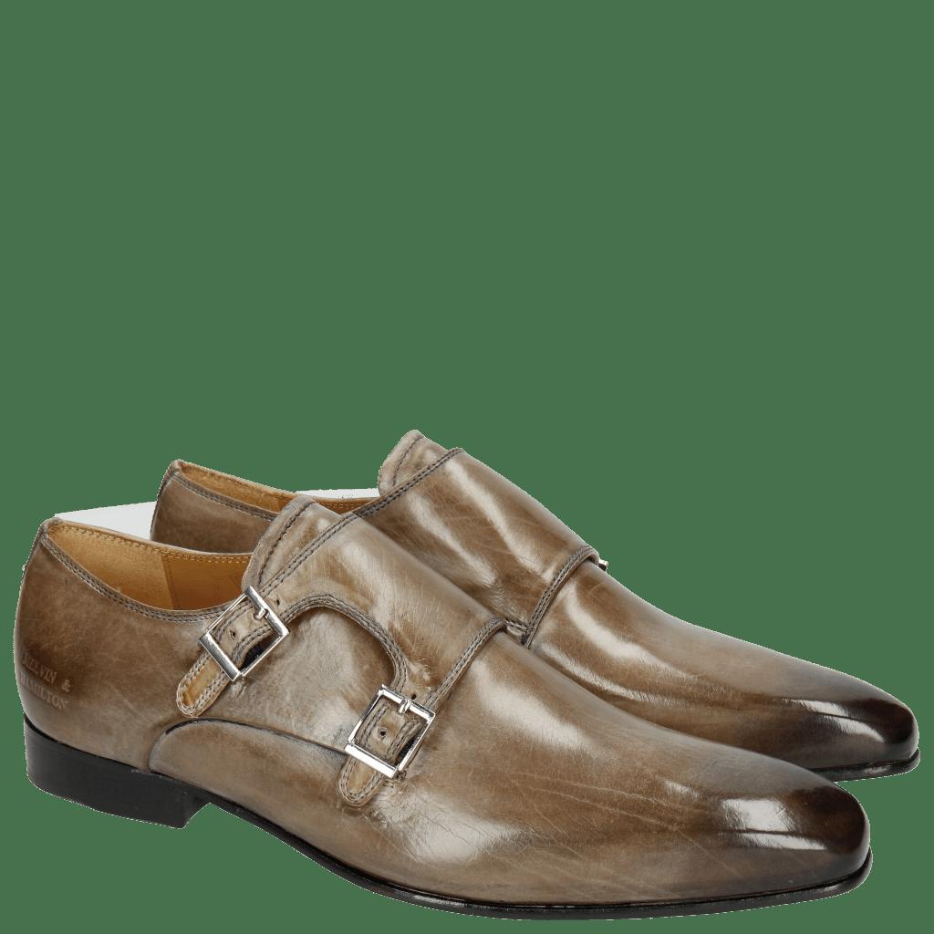 Monk Schuhe Lance 10 Oxygen Thin Black