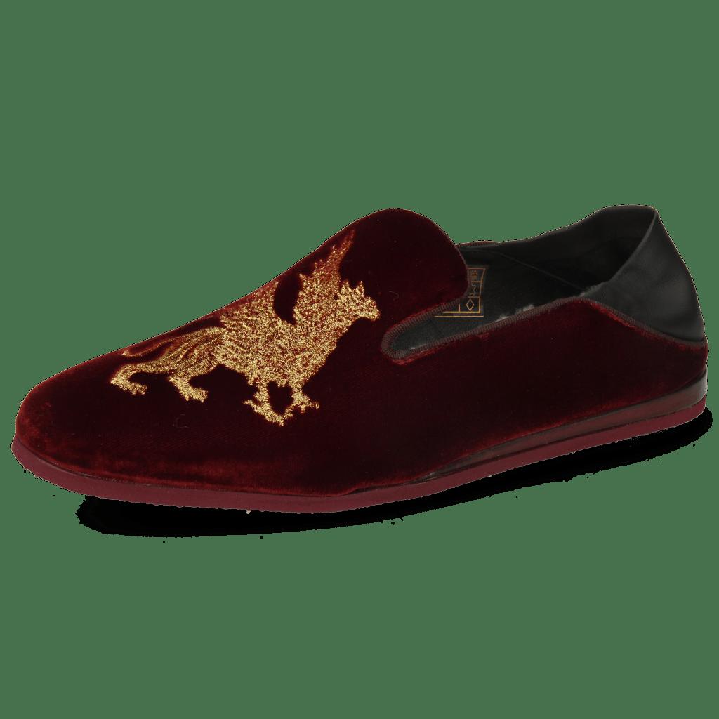 Loafers Scarlett 37 Velluto Wine Dragon