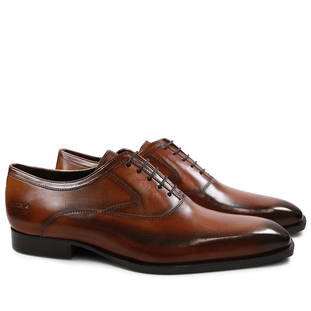Oxford Schuhe Woody 3 Tan Brown Red Washed