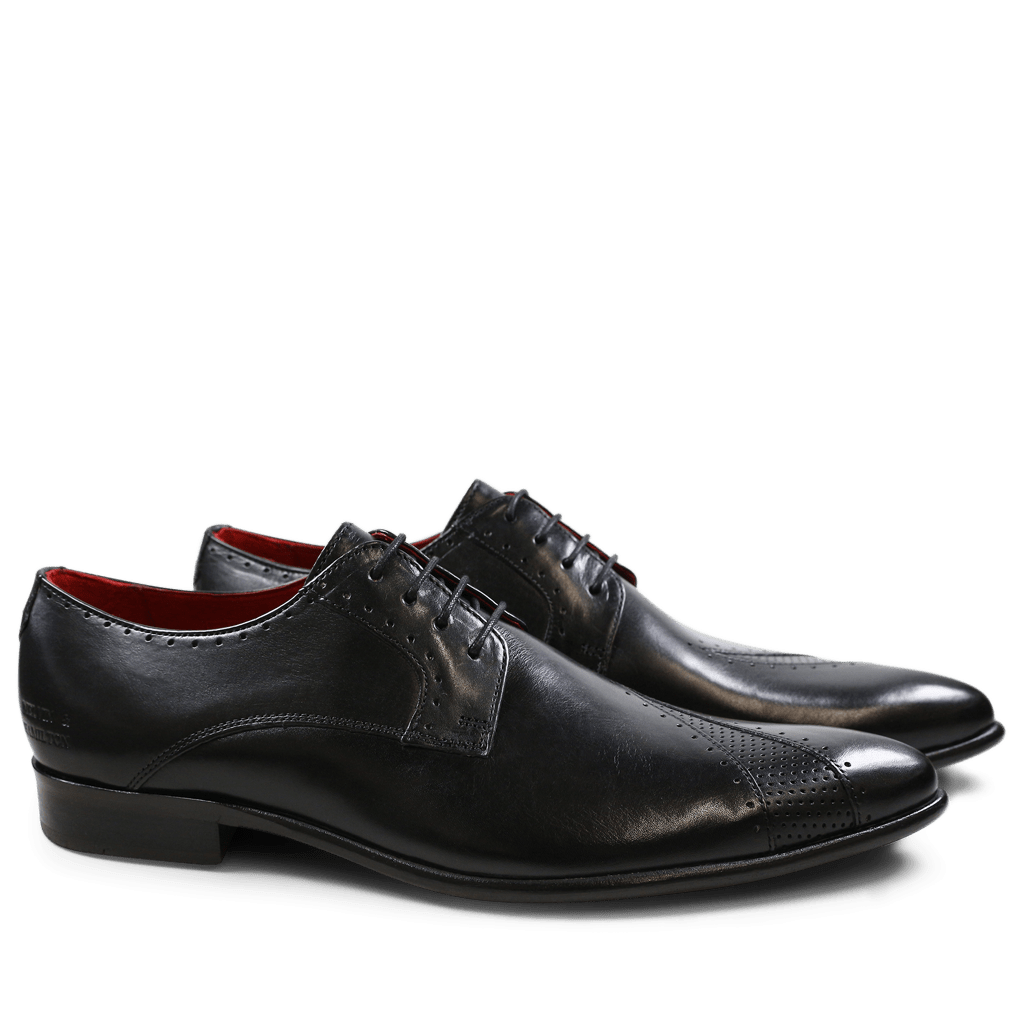 Derby Schuhe Toni 8 Crust Black Crust Perfo Black LS Black