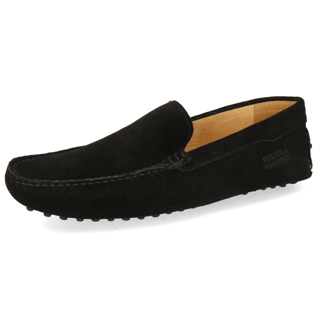 Loafers Nelson 1 Suede Pattini Black Dots