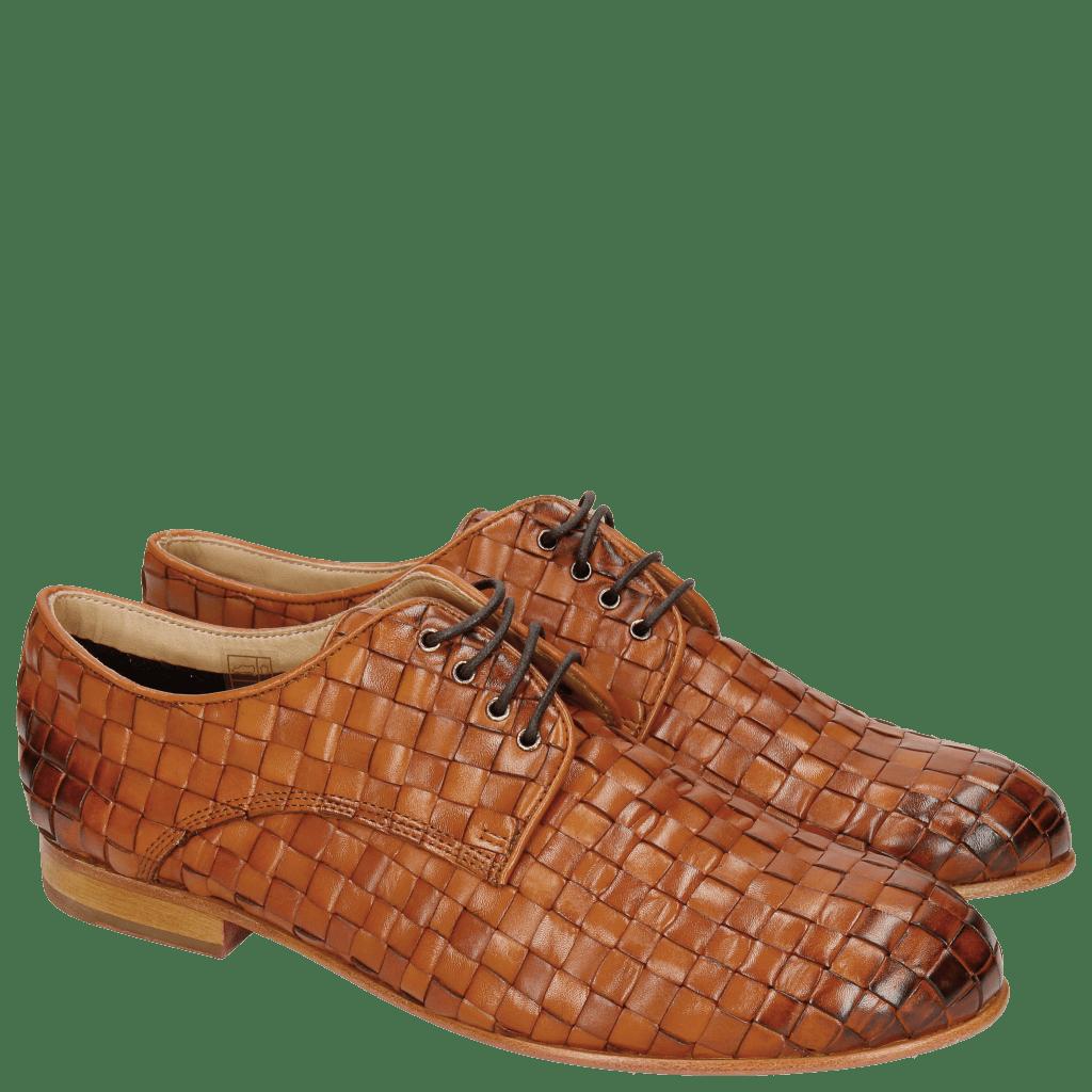 Derby Schuhe Sally 13 Woven Nappier Tan