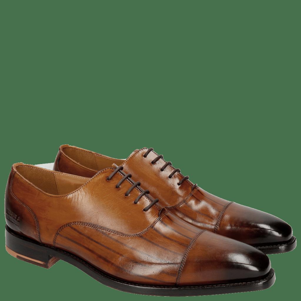 Oxford Schuhe Kylian 1 Cognac LS Washed