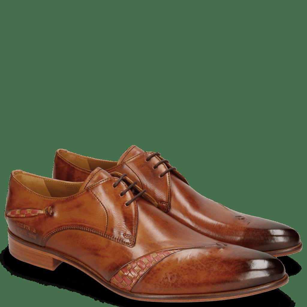 Derby Schuhe Toni 40 Tan Woven Sand