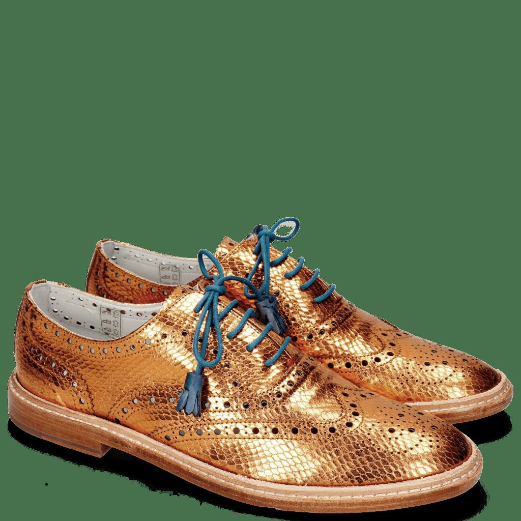 Oxford Schuhe Monica 4 Glitter Orange