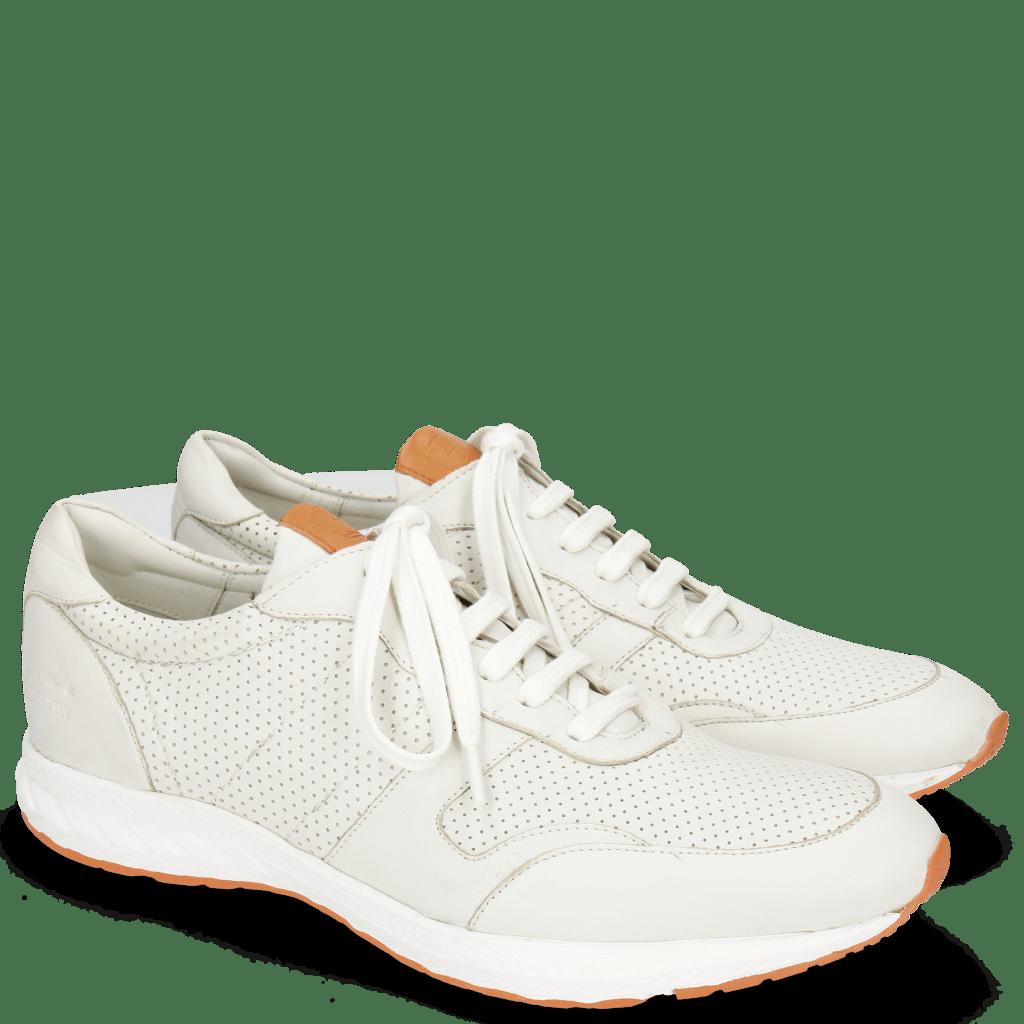 Sneakers Blair 11 Nappa Perfo White