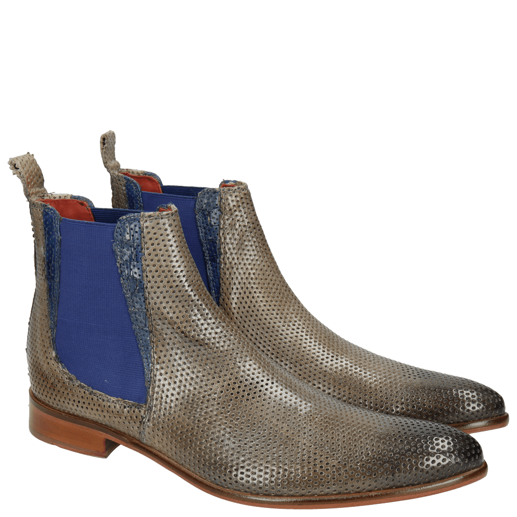Stiefeletten Toni 6 Classic Perfo Morning Grey Crock China Blue
