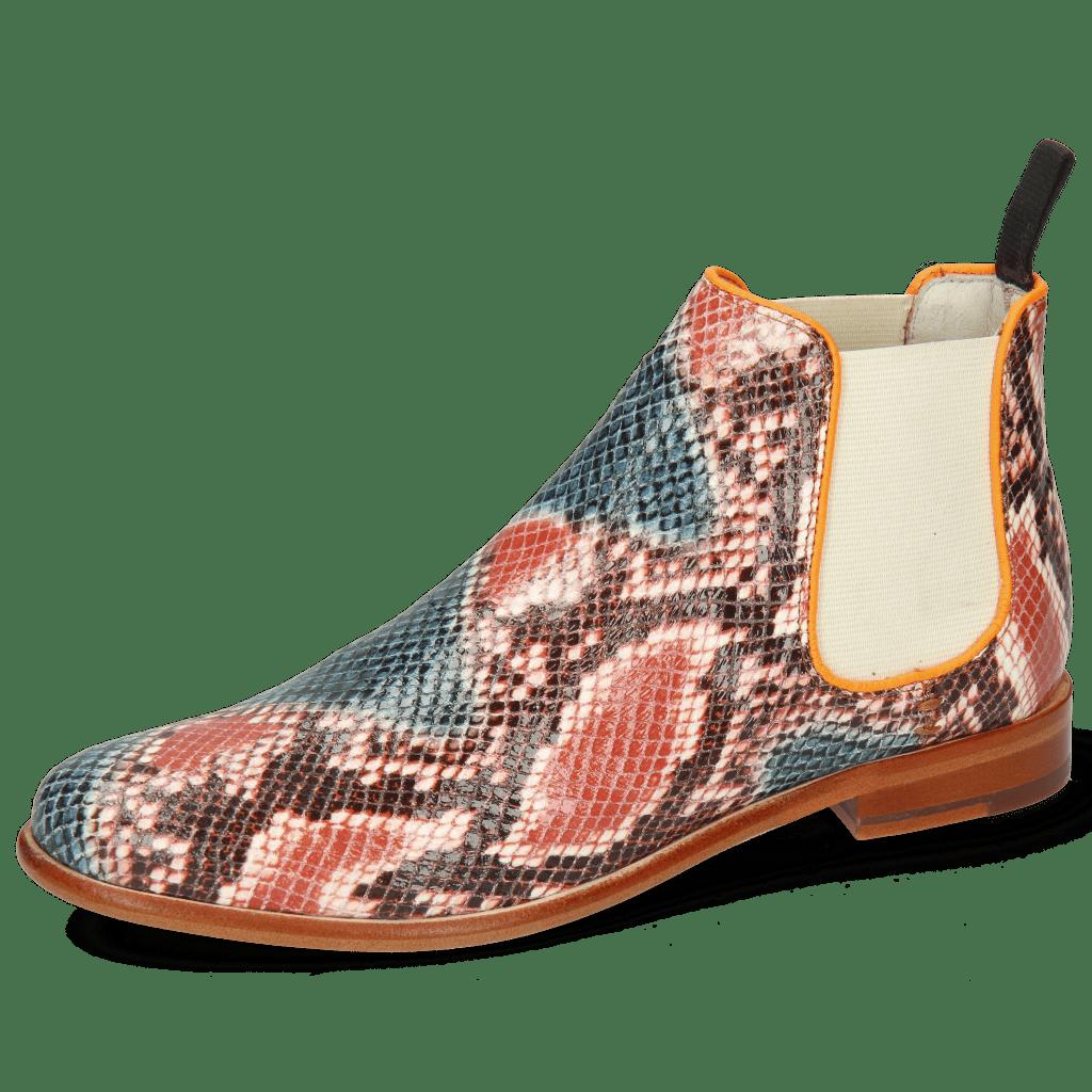 Stiefeletten Selina 48 Snake King Multi Rust