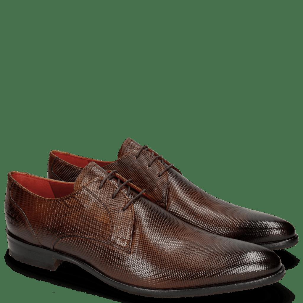 Derby Schuhe Toni 1 Dice Wood Modica Red