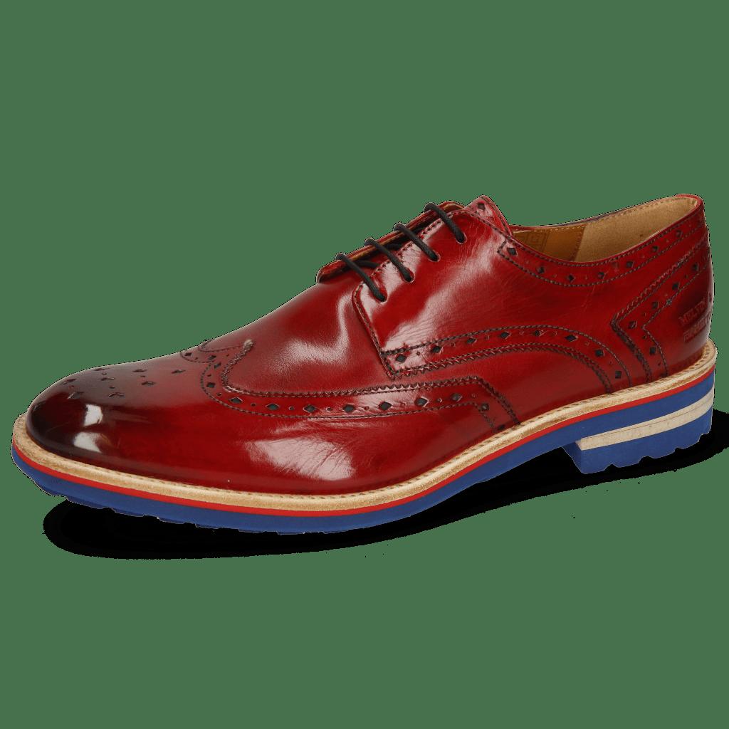 Derby Schuhe Eddy 5 Crust Ruby