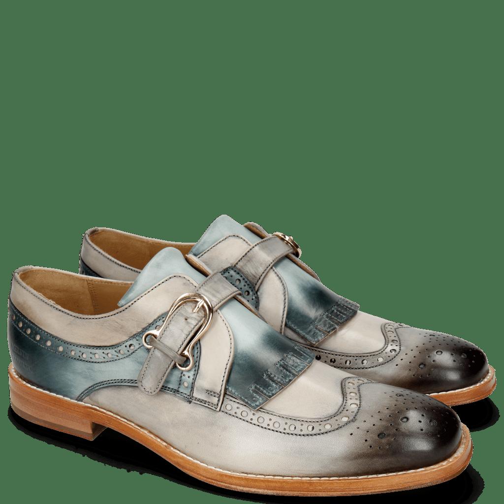 Monk Schuhe Phil 28 Grigio Morning Grey Glicine