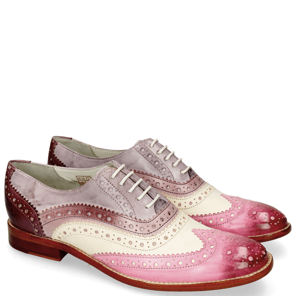 Derby Schuhe Amelie 10  Vegas Lilac White Light Purple Pale Lila